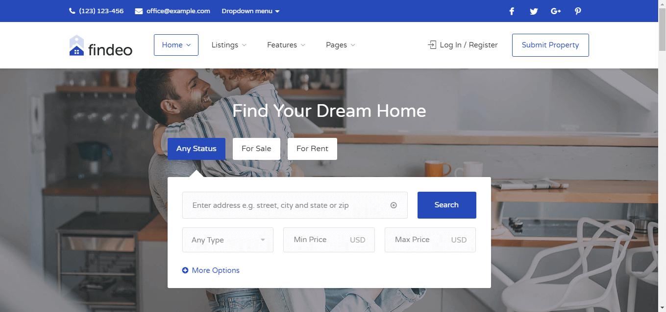 website bất động sản chuyên nghiệp
