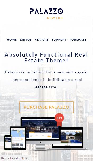website bất động sản palazzo