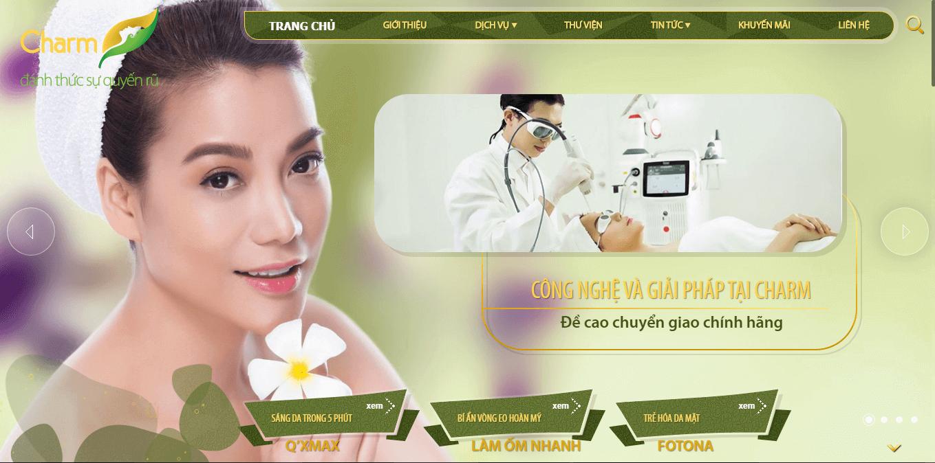 mẫu thiết kế website bệnh viện thẩm mỹ